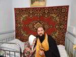 Настоятель Иоанно-Богословского храма посетил старейшую прихожанку
